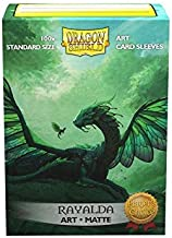 Arcane Tinmen Dragon Shield Sleeves - Matte Art 100 CT - MGT Card Sleeves - Compatible with Magic The Gathering Card Sleeves Pokémon and Other Card Games - Limited Edition: Rayalda