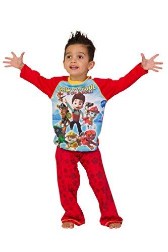 ThePyjamaFactory Jungen Schlafanzug Rot Rot
