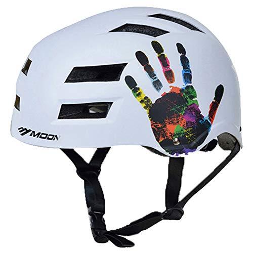 CZCJD Casque De Vélocasque De Ski Ultraléger Moulé Intégralement Abs+Eps VTT Vélo De Route Casque De Snowboard Casque De Sport De Plein Air,Blanc,M