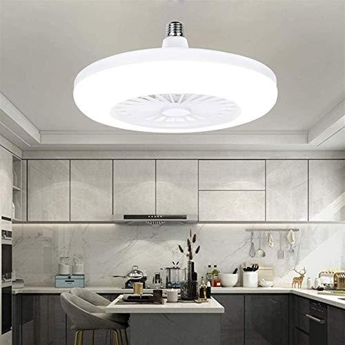 Vinteen 20 W luz blanca, ventilador de techo con iluminación, ventilador de techo LED, ventilador de techo del ventilador, creativo moderno E27 lámpara de la lámpara de la lámpara de la