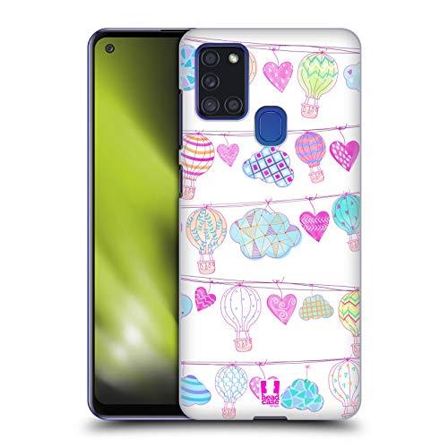 Head Case Designs Garland Hot Air Balloon Love Hard Back Case Compatible with Samsung Galaxy A21s (2020)