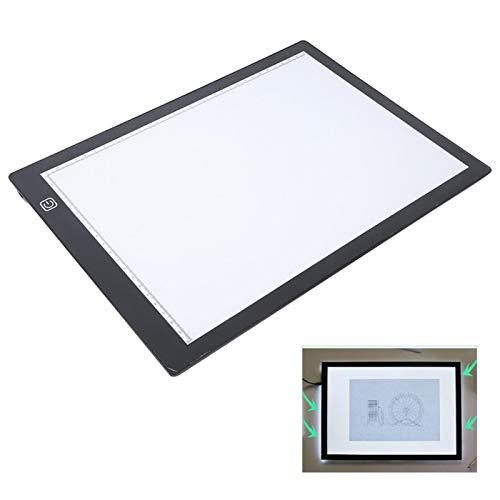 Tablero de copia, tablero de dibujo LED ultrafino de protección ocular A4, USB portátil para dibujo práctico Herramienta de dibujo de panel de alta transmitancia