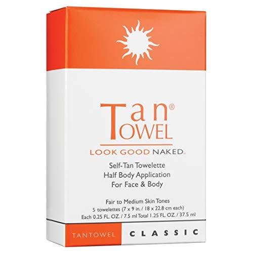TAN TOWEL Half Body Classic Tanning Product by Tan Towel