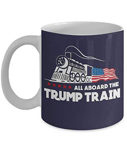 N\A Donald Trump Todos a Bordo de la Taza de café del Tren Trump, Divertido, Taza, té, Regalo para Navidad, día del Padre, Navidad, papá, Aniversario, día de la Madre, papá, HEA