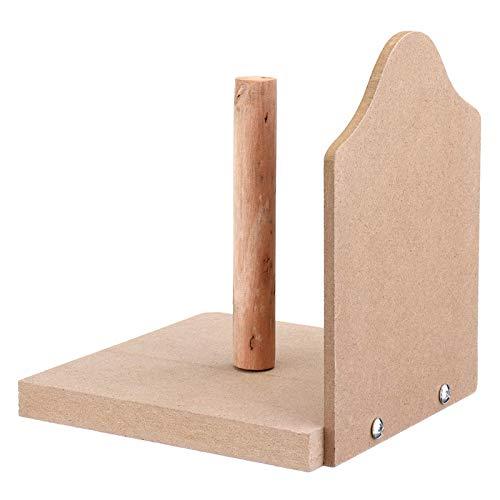DHTOMC Portarrollos de papel higiénico Loo, rollo de madera, soporte de pared para cuarto de baño
