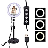 Zippem Dimmable Studio Photo Video Live Lamp Phone LED Ring Fill Light On-Camera Video Lights
