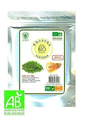 ? *** BIO *** Thé Vert Matcha Bio | Sachet refermable de 100g | Tradition japonaise - Garantie d'origine | Certifié Ecocert (FR-BIO-01)