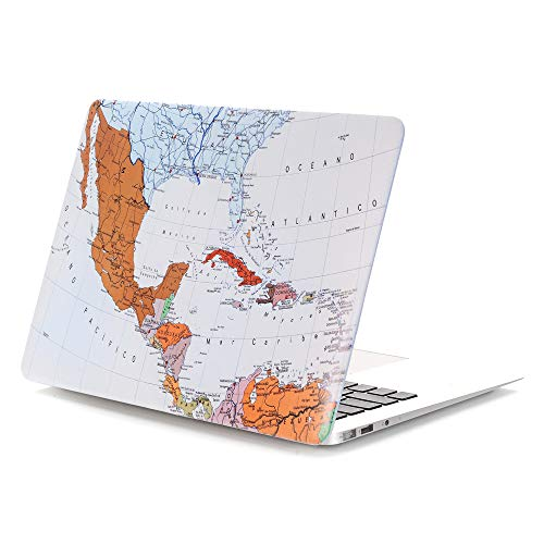 MacBook Pro 13 Retina Case, PapyHall MacBook Pro Art Printing Collection Case Plastic Coated Hard Shell Protective Case Cover for MacBook Pro 13 inch Retina Display(Model : A1425/A1502) - Mexico Map