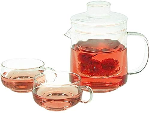 Teapot Teapot Cup Teapot Tea Set Glass Heat Resistant Costume Flower Teapot Filter Transparent Bubble Fruit Teapot Kung Fu Tea Set Easy Song