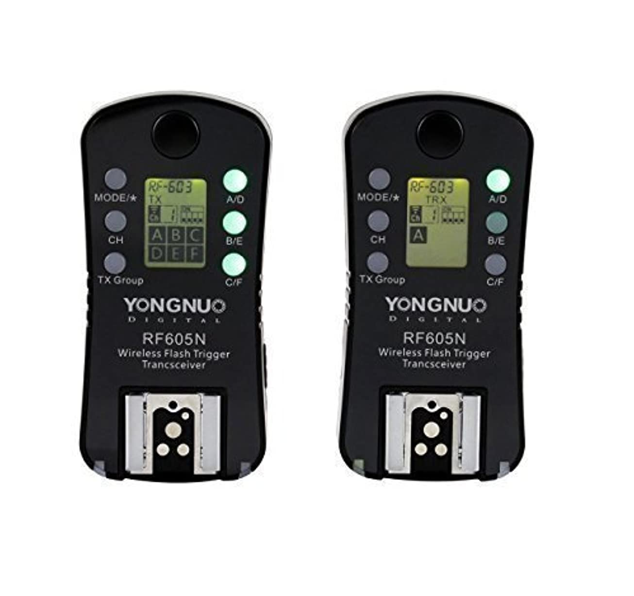 アイデア頭痛批判的Yongnuo rf605 Nワイヤレスフラッシュトリガー&シャッターリリース16チャンネルfor Nikonカメラ