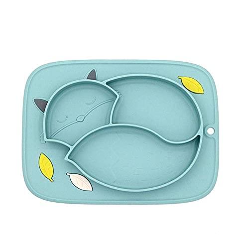 TOSSPER Alimentación del Bebé Placas De Ventosa Lugar De Comida De Bebé De La Bandeja De Silicona Niños Mat Platos Infantiles para Niños De Comer del Plato