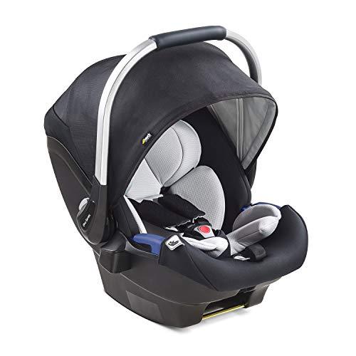 Hauck iPro Baby i-Size Babyschale ab Geburt bis 13 kg, Gruppe 0 Baby Autositz mit zwei-teiliger Neugeborenen-Einlage, mitwachsend, leicht, kompatibel mit Hauck Isofix Base, schwarz
