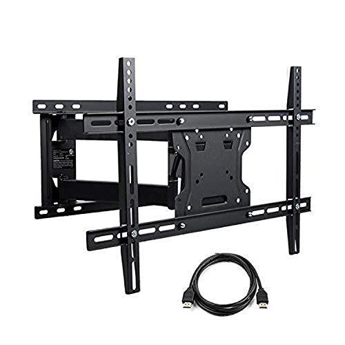 Atlantic Full Motion TV Wall-Mount - for Flat Screen TVs 37-84 inch w/HDMI PN63607140 in Black