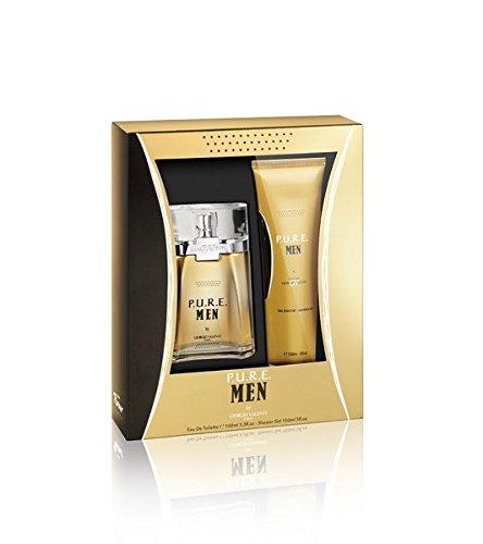 Parfums Giorgio Valenti PURE MEN/MAN 2 teiliges Geschenkset, Inhalt: Eau de Toilette Natural Spray 100 ml + Shower Gel 150 ml