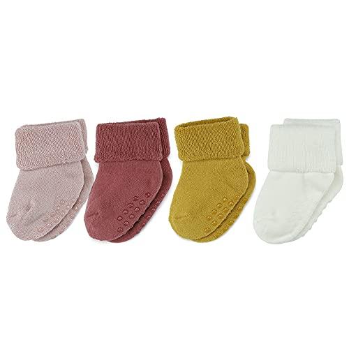 MMBABY 4 Paar Baby Kleinkind Säugling Neugeborenes - Anti Rutsch/Rutschfest Grip Warme Baby Socken...