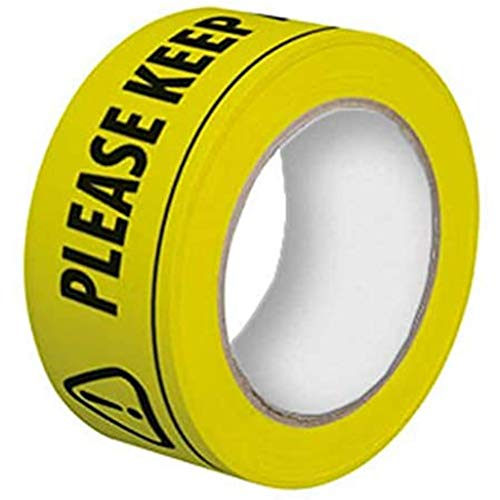karrychen Please Keep A Safety Distance of 2 Meters Floor Tape 33mx48mm Distancing Sticker