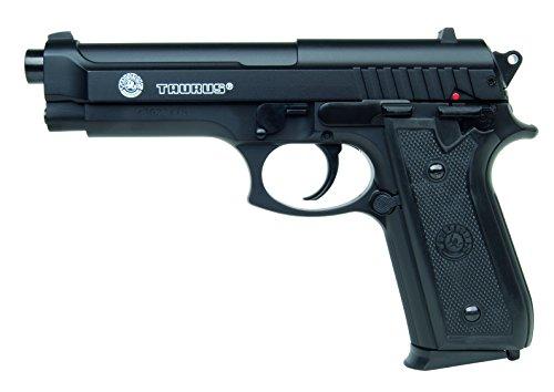 Softair Pistole Taurus PT92 im qualitativ hochwertigen Transportkoffer HPA-Serie mit Metallschlitten Kaliber 6 mm Federdruck < 0.5 Joule, 203977