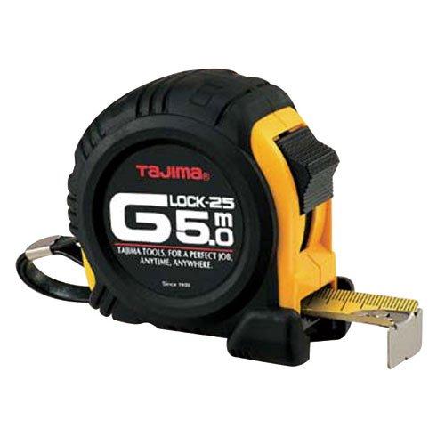 TAJIMA G5P50MY G5P50MY-Cinta métrica Resistente a Impactos (5 m x 25 mm), negro