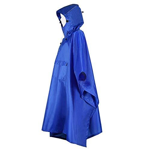 mächtig Regenponcho mit Kapuze und Kapuze mit Reflektor, Regenmantel, atmungsaktivem Fahrradponcho…