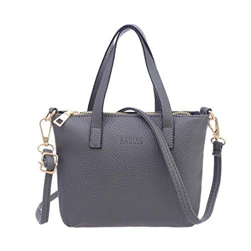 Handbag On Sale,Clearance!AgrinTol Women Fashion Handbag Shoulder Bag Tote Ladies Purse (Gray)