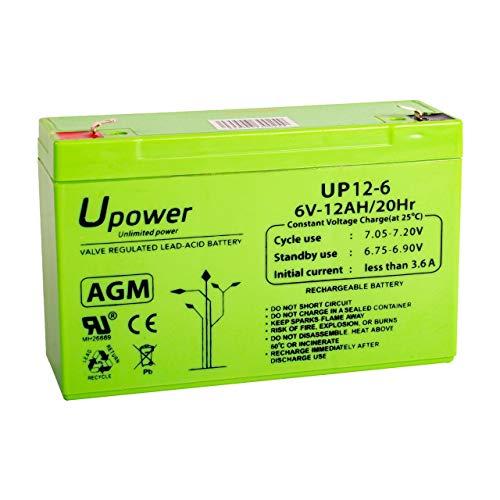 Bateria Plomo AGM 12Ah 6V