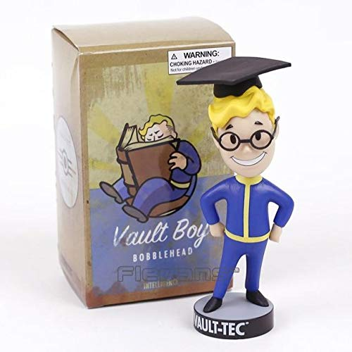 28 Style Gaming Heads Fallout 4 Bobblehead Vault Boy Gaming Heads Series 2 PVC Action Figure Collectible Model Toys Color Intelligence