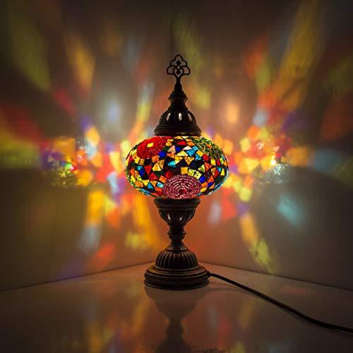 Lámpara turca (20 variaciones) – Lámpara de mesa de mosaico hecha a...