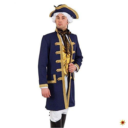 Unbekannt Historische Jacke de Luxe Gr. 46- 56 Mantel dunkelblau Gehrock Barocker Kurzmantel (58/60)