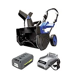 Snow Joe iON18SB-HYB 18-Inch 40 Volt Cordless Brushless Single Stage Snow Blower