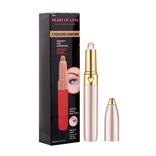 Doubleer Electric Eyebrow Trimmer Mit USB Augenbrauenformer Lade Augenbrauenrasierer Lippenstift Form Für Frauen Männer