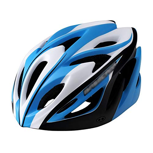 JIAGU Cascos para Bicicletas para Adultos Exfoliante integrada Montar Bicicleta del Casco del Casco de Seguridad (Color : Black Blue, Size : L)