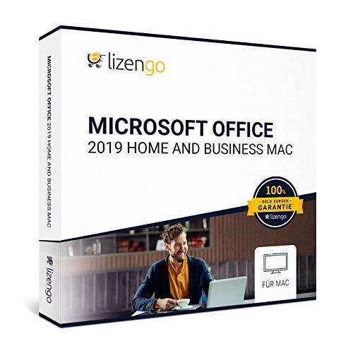 MS Office 2019 Home and Business Mac - Vollversion 32 bit & 64 bit Neuer und originaler Produktschlüssel | Box Inkl. Anleitung von lizengo