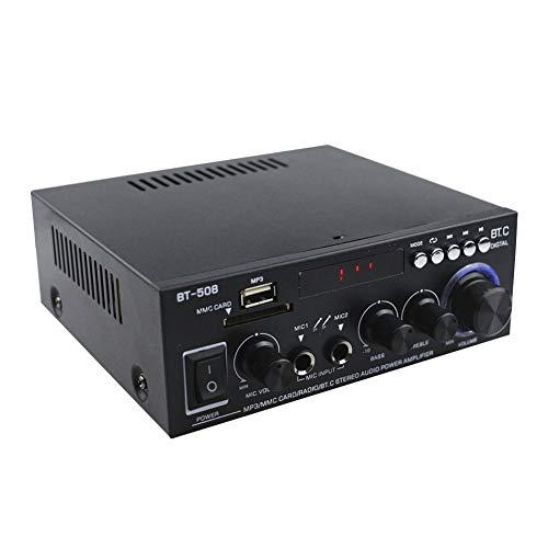 szlsl88 600 Watt Leistungsverstärker, HiFi Musik Audio Bass Bluetooth Dual Channel Mini Verstärker für Car Home