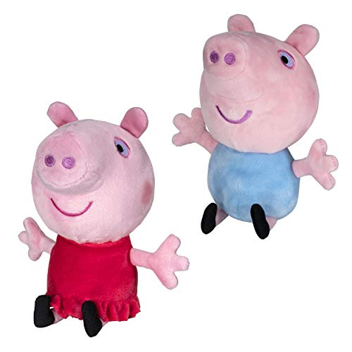 Peppa Pig and George Squeeze & Squish Plush – Soft & Cuddly – Amazon Exclusive