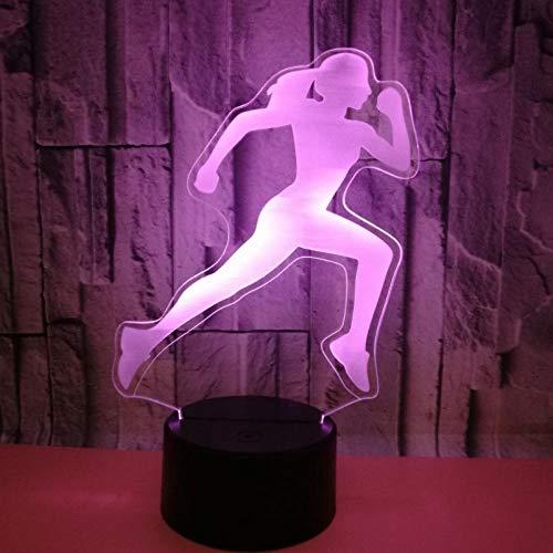 Lámpara de ilusión 3D con botón táctil de 7 colores cambiantes LED ilusión luz nocturna ilusión lámpara de mesa que se puede utilizar como regalo de vacaciones noche luz de ánimo