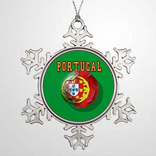 BYRON HOYLE Alloy Ornaments Xmas Trees Decorated Portugal Soccer Sul Das Viseu Tugas Christmas Snowflake Ornaments Xmas Decor Wedding Ornament Holiday Present