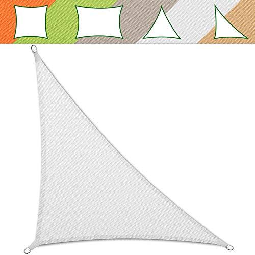 casa pura Voile d'Ombrage Triangulaire   Toile Tendue Epaisse & Résistante Intempéries   Voile Imperméable - Lavable en Machine   Blanche - 5x5x7m