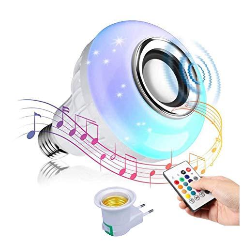 Musik Glühbirne E27 Bluetooth Lautsprecher RGB LED Smart Farbwechsel Lampe, Lautsprecher Birne Dimmbare mit Fernbedienung und usb Port für Schlafzimmer, Schrank, Bar, Party, Zuhause, Hotel Deko