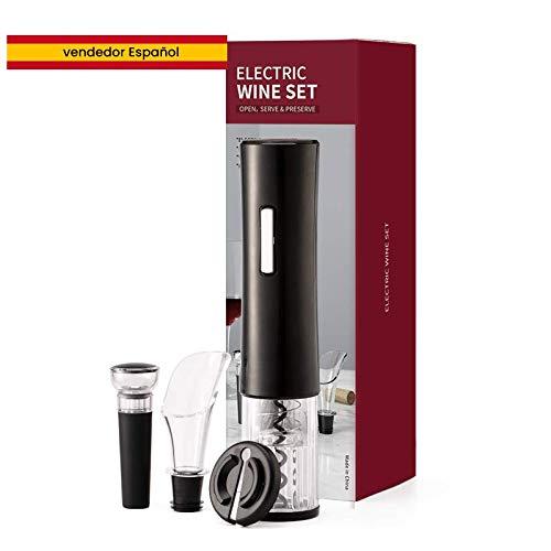 Elektrischer Korkenzieher, 4-in-1-Korkenzieher mit Korkenzieher/Weinausgießer und mit Geschenk-Box. Ideal zum Verschenken, elektrischer Flaschenöffner, Flaschenöffner, Korkenzieher, Geschenk-Set.