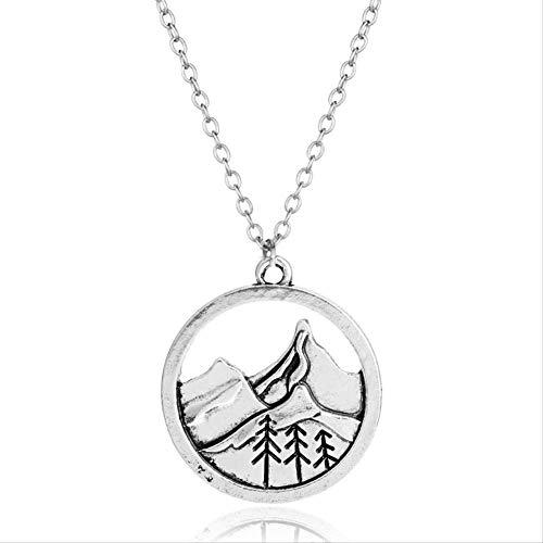 Naswi Collar De Montaña del Himalaya Wanderlust Collares De Escalada En Roca Colgantes Regalo para Escaladores Viaje Encanto Vintage