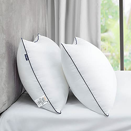 Sa gino Pillows for Sleeping Standard Size Set of 2, Luxury Hotel Bed Pillows for Side Back Stomach...
