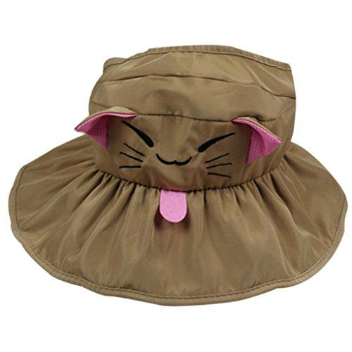 Ouneed® 1-4 ans Enfant Pliable Chapeau de Soleil (Marrn)