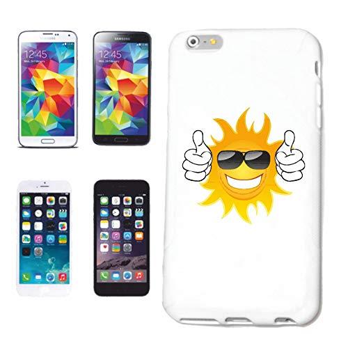 Reifen-Markt Funda para teléfono móvil compatible con Huawei P9, diseño de sol riendo, con gafas de sol