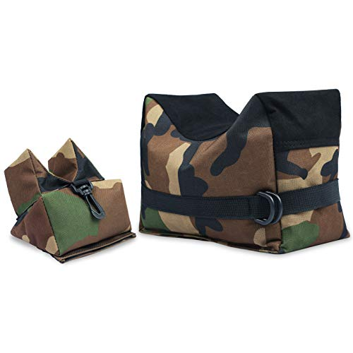Twod 900D Oxford Outdoor Shooting Rest Bags Rest Front & Rear Support SandBag Stand Holders with 900 Denier Polyester Durable Construction and Water Resistance for Rifle Hunting- Unfilled-Camouflage