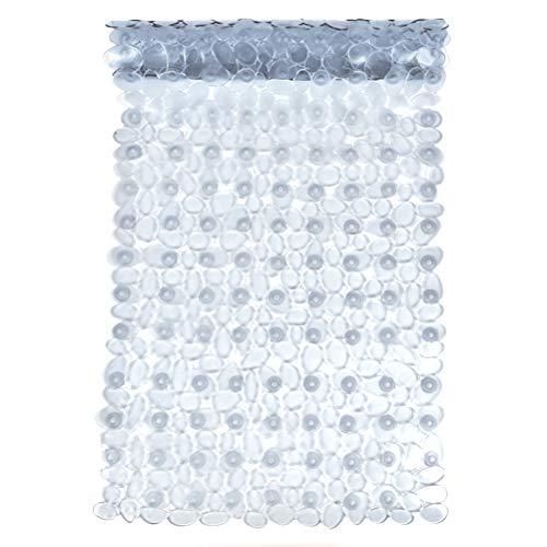JAOMON Tappetini per Doccia da Bagno Antiscivolo e Antimuffa con Ventosa Tappetino per Vasca di Sicurezza Resistente alla Muffa Antibatterico Lavabile in Lavatrice con Fori di Scarico (88 x 40 cm)