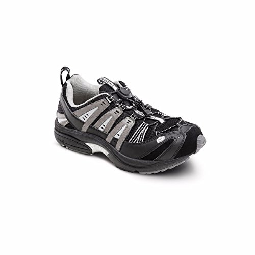 Dr. Comfort Performance Men's Therapeutic Athletic Shoe: Black/Grey 9 X-Wide (3E/4E)
