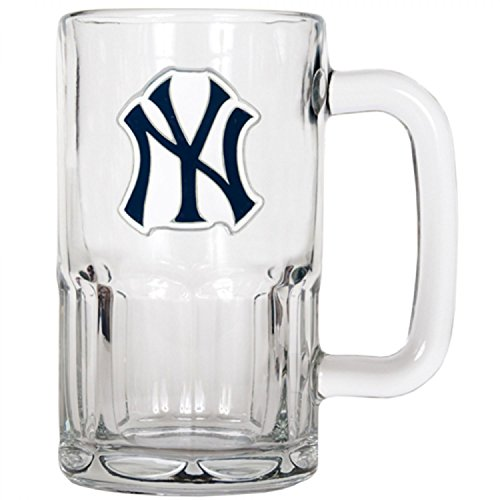 New York Yankees MLB 2pc Rocks Glass Set - Primary Logo