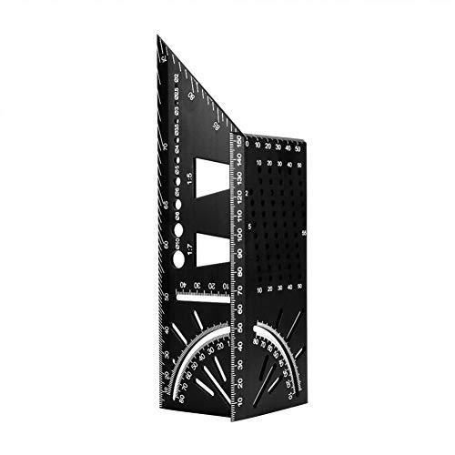 Herramienta de Carpintero Multifuncional ángulo Regla 45 a 90 Grados de aleación de Aluminio de la Madera precisa Plaza Regla ángulo gramil