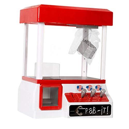 chiwanji Prize Claw Toy Grabber Machine, Home Dolls Balls Candy Grab Machine con Monedas de 24 Piezas, Juego de Arcade Electrónico para Fiestas Infantiles