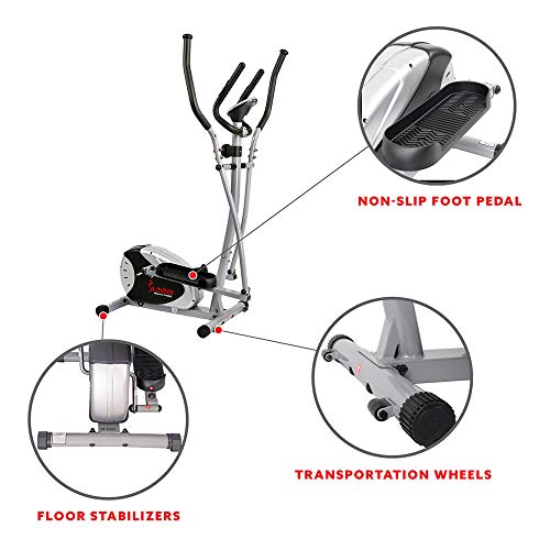 Product Image 4: Sunny Health & Fitness SF-E905 Elliptical Machine Cross Trainer with 8 Level Resistance and Digital Monitor